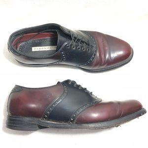 FLORSHEIM 20392 Two Tone Leather Saddle Oxfords